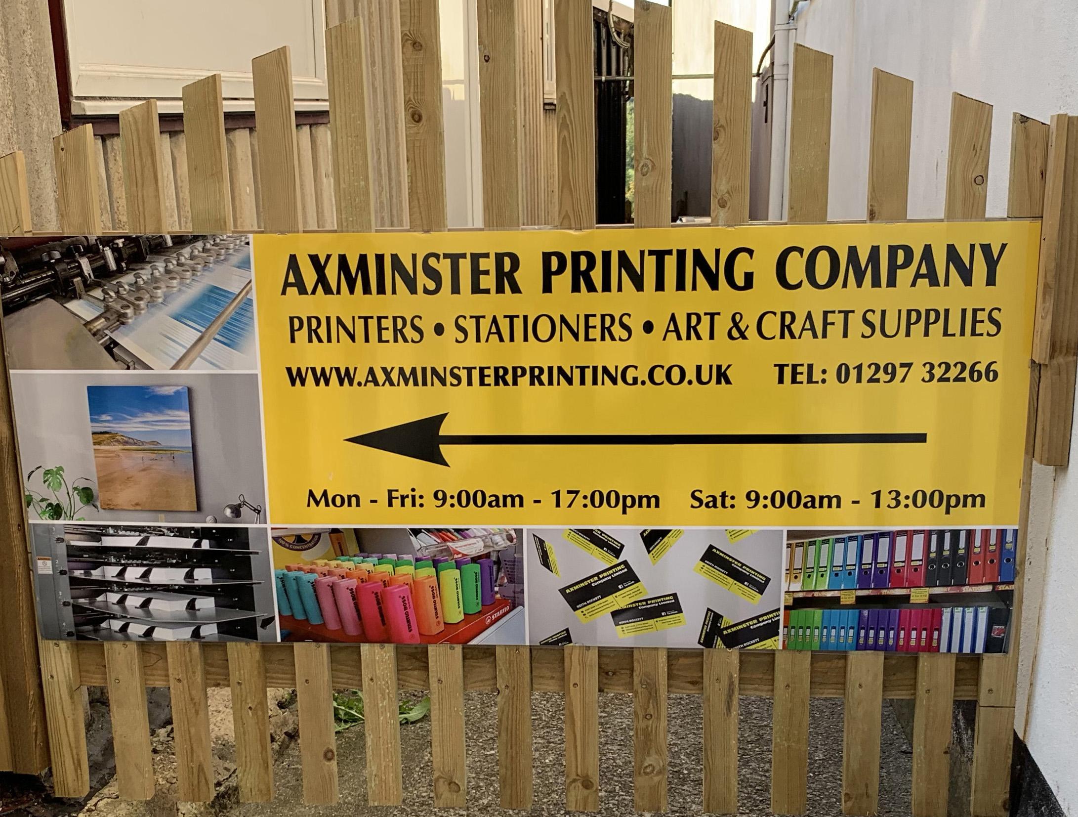 Axminster Printing gate