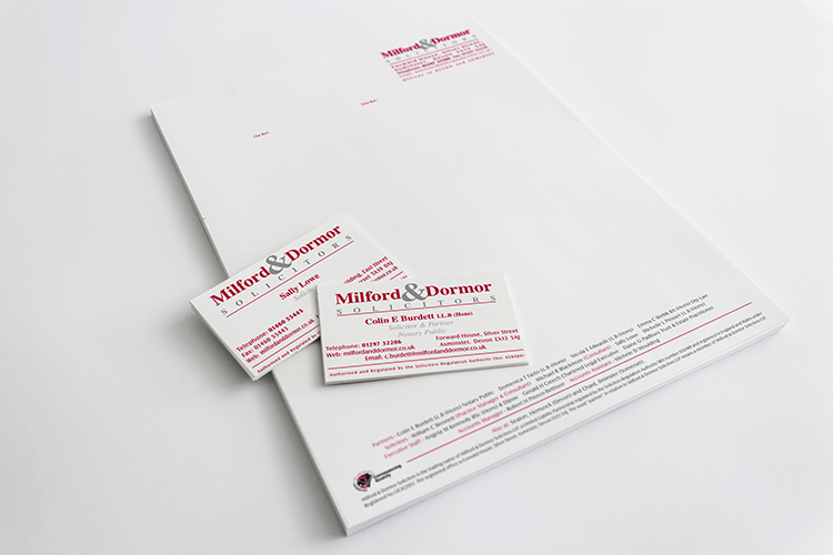 Milford & Dormor - Business Cards